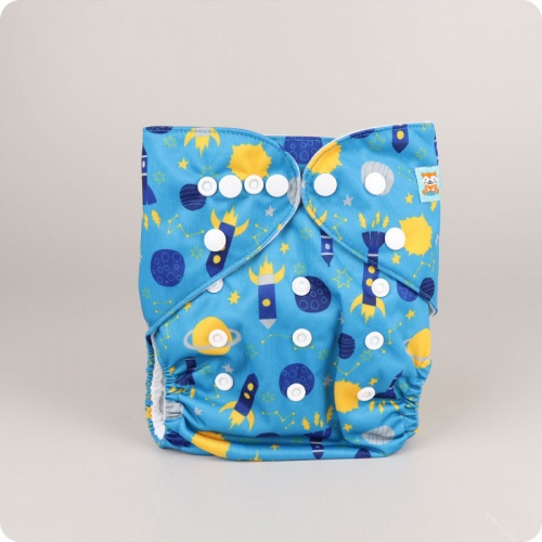 Alva Baby One Size Nappy - Rockets
