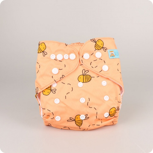 Alva Baby One Size Nappy - Busy Bees
