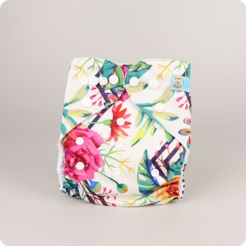 Alva Baby One Size Nappy - Botanical