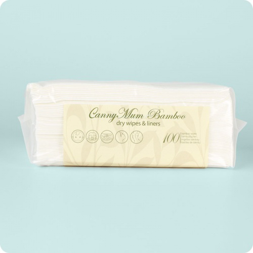 Cannymum Luxurious Dry Wipes Refill- Pack 100