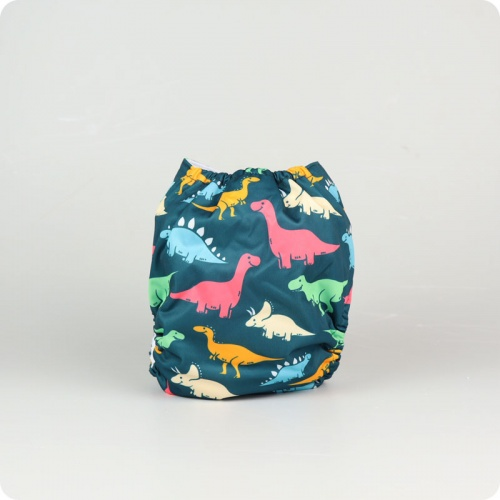 Alva Baby One Size Nappy - Colourful Dinos