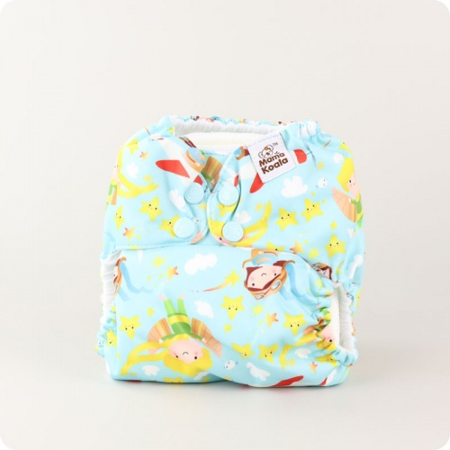 Mama Koala One-Size Pocket Nappy - Up, Up Away